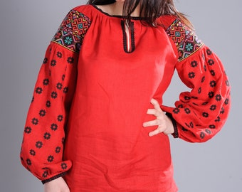 Embroidered blouse J1101