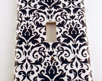Switch Plate Light Switch Cover  Light Switchplates in  Navy Damask (136S)