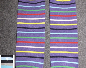 PURPLE STRIPES baby leg warmers.  Great for babies, toddlers, and young kids