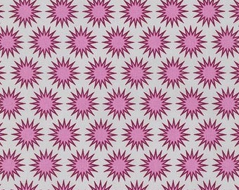 Cerise Sunburst from the Paintbox Collection by Elizabeth Hartman for Robert Kaufman, Pacific, AZH-15876-363