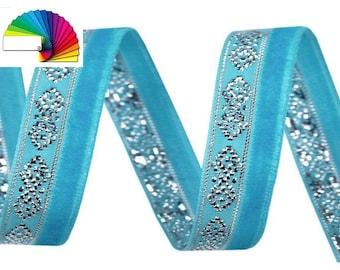 3 M Velvet Ribbon width 10 mm with Lurex