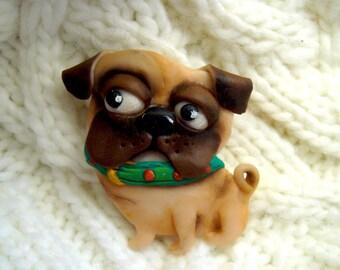"""Brooch """"Jolly Pug"""""""