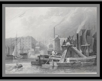 views of the Thames: St Catherine Docks