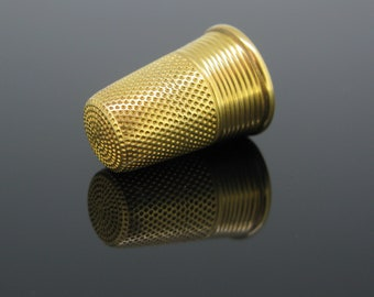 Early 20th Century Thimble, 18kt yellow gold