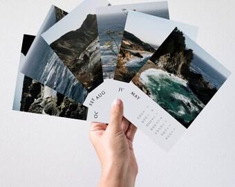 Calendrier 2018, calendrier de bureau, calendrier de Big Sur, photographie de voyage, bureau Decor, Decor mural, en Californie, 2018 murale calendrier, côte ouest