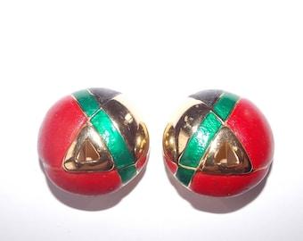Lanvin Paris brand vintage french clip earrings