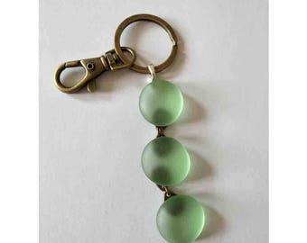 Handmade Beach Sea Glass Keychain Cute Keyring Key Chain Key Ring Beach Car Cute Gift Light Blue Green More Color