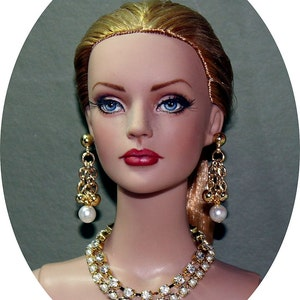 Diamonds & Pearls Jewelry Suite For Sydney Chase, Tyler Wentworth, Ellowyne Wilde And Other Same Size Dolls