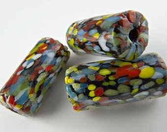 Millefiore Cylinders Beads, 20mm pkg of 4. b1-494