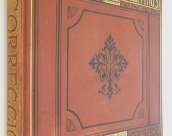 Toschi's Engravings Frescos Correggio Parmegiano art book antique 1876 Victorian antiquarian fine binding