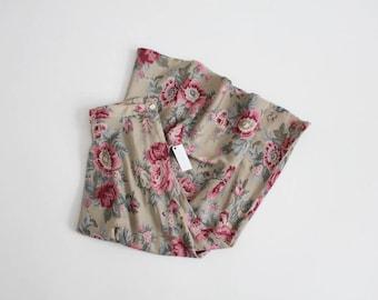 taupe floral skirt   long floral skirt   90s banana republic