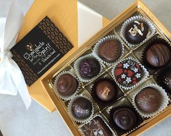 Luxury Gift Chocolate 12pc Gift Box