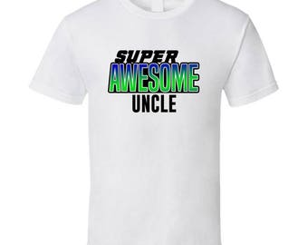 Super Awesome Birthday T-shirt Uncle