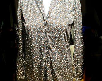 Womans Vintage Blouse Top Size Medium #362