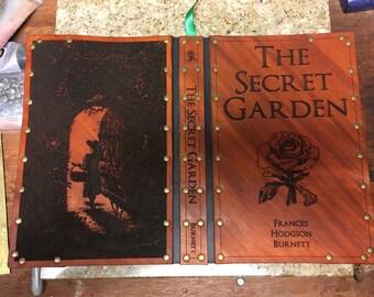 Leather covered copy of The Secret Garden by Frances Hodgson Burnett