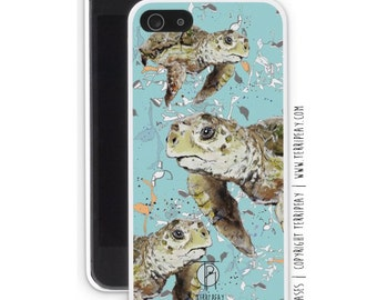 Turtle Phone Case, Animal Phone Case, iPhone 4, iPhone 5, iPhone 6, Samsung Galaxy, Illustrated, Accessories,Animal lovers,Phone Wrap,Fish