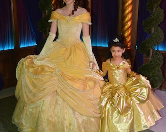 Belle Dress, Princess Belle inspired Dress, Beauty and the Beast inspired, Belle costume, Deluxe belle, princess dress