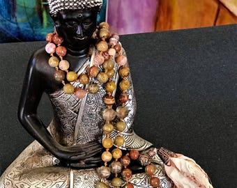 108 Mala, Handknotted Mala, BoHo Beads, Yoga Beads, Meditation Beads,