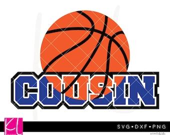 Basketball Cousin svg, Basketball Cousin Shirt svg, Basketball Cousin, Basketball svg, Cousin svg, Cousin svg file, Basketball Monogram svg