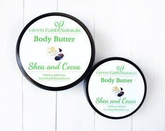 Whipped Body Butter -  7.40 fluid ounce glass jar - Organic - Body Butter - Shea Butter - Whipped Shea Butter - Vegan Body Butter