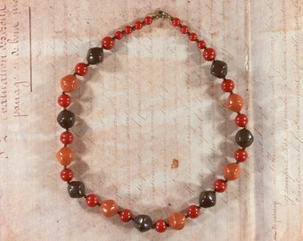 Vintage necklace made of plastic beads