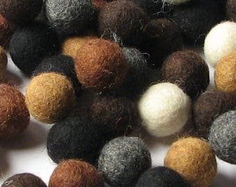 Collection - 60PC Piece NEUTRAL Felt Balls