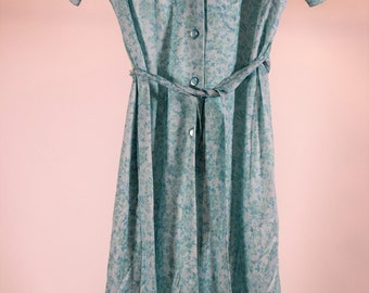 Vintage Button Up Short Sleeve Housewife Dress