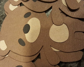 1 Doz. Teddy Bear Cupcake Toppers