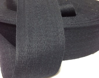Black Binding Cotton Twill Tape 2 inches wide 10 yards long