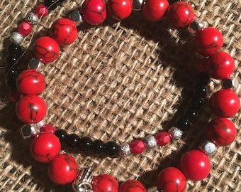 UGA Bulldogs stackable bracelets