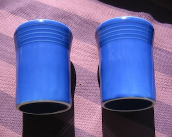 Fiestaware Fiesta Sapphire Blue Tumblers Pair Of Two (2) Tumblers New Excellent Condition From Bloomingdales Washington District of Columbia