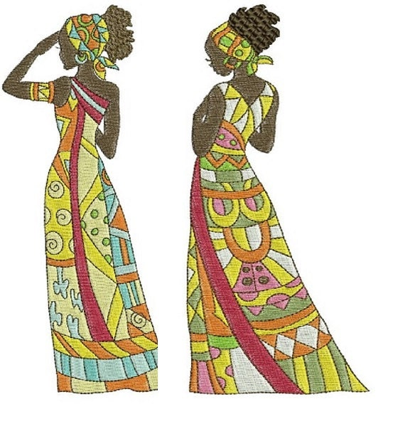 Items Similar To African Beauties Embroidery Designs For Embroidery