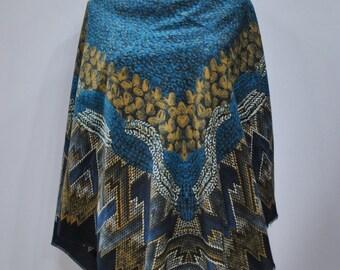 Vintage BIG SIZE printed shawl , big size scarf ...(706)