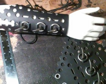 Black Leather Ghost Claw Cyber Gauntlet