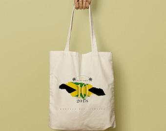 ARI Swag Bag Custom Canvas Tote, Custom Beach Tote, Swag Bag, Welcome Gift, Wedding Favor, Jamaican Flag