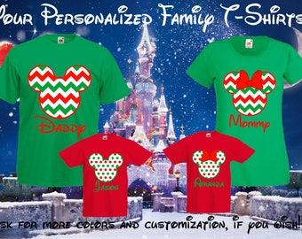 65 Disney Christmas Family Vacation - Mickey Mouse, Minnie Mouse, Disney Family T-shirts, Disney Family Vacation, Mickey and Minnie, Disney