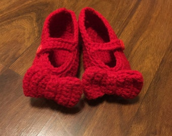 Ruby Red Mary Jane Booties