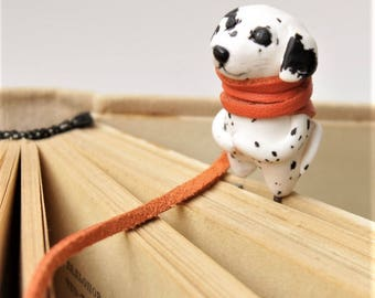 Unique Bookmark Dalmatian, a gift for Christmas, a gift for her, a tiny dog/ custom bookmark/ book lover gift/ Personalised animal