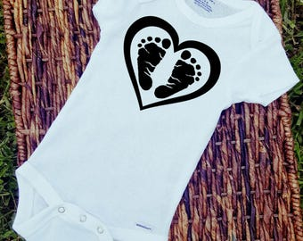 Footprints/Onesie/Custom/Personalized/Gift