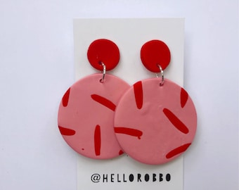 Stix - Polymer clay statement dangle earrings