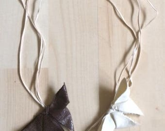 3-Collier papillons origami