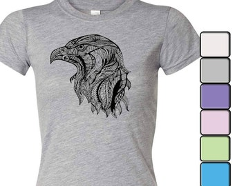 Eagle T-shirt, American eagle shirt, 4th of July t-shirt, Women's Shirt, Independence day shirt, Women's tee, July 4th tee, eagle head tee