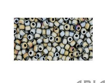 GRAY IRIS MATTE (613): 11/o Toho Japanese Seed Beads (10 grams)