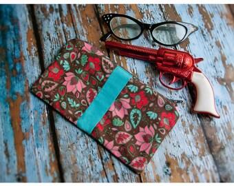 tanith - artisan made cotton wallet - clutch stashbag - pencil case - cosmetics bag