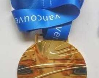 2010 Vancouver Undulated Shape Olympic 'Gold' Medal