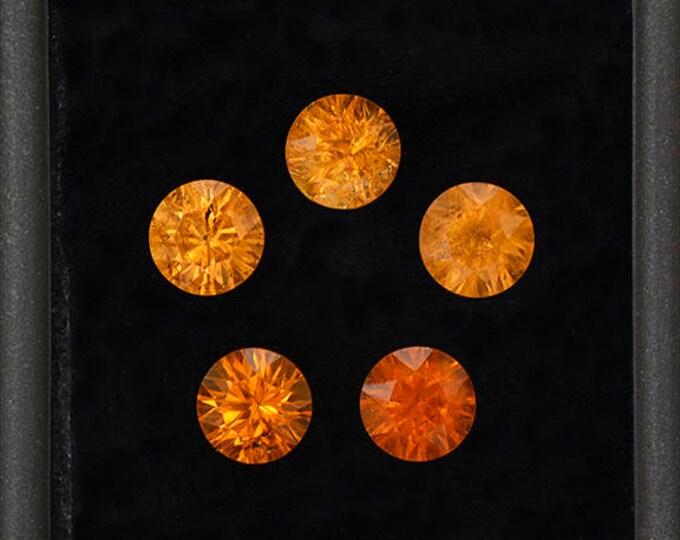 FLASH SALE! Gorgeous Orange Concave Spessartine Garnet Gemstone Set from Nigeria 6.24 tcw.