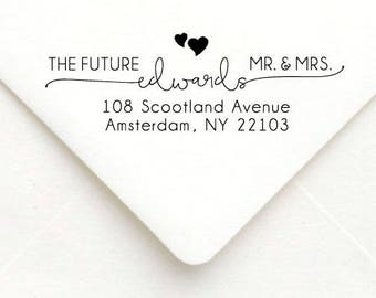 Personalized Self Inking Return Address Stamp - self inking address stamp - Custom Rubber Stamp, wedding address stamp A58