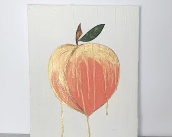Peach with gold drip