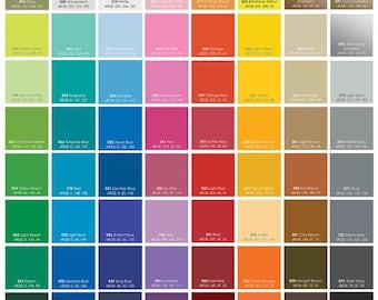 "12"" x 12"" Oracal 631 Matte Vinyl sheets,  available in 69 Colors!"