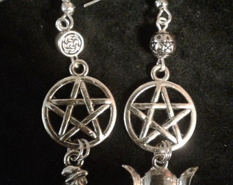 The Witch and the Triple Moon Earrings